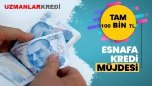 Read more about the article Esnafa 100 Bin TL Kredi